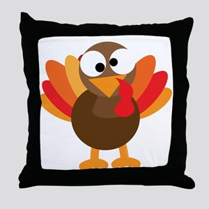Funny Turkey Throw Pillow
